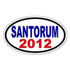 Rick Santorum 2012 Decal