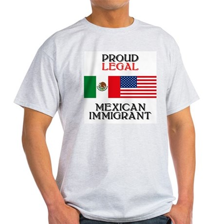 Mexican Immigration Ash Grey T-Shirt