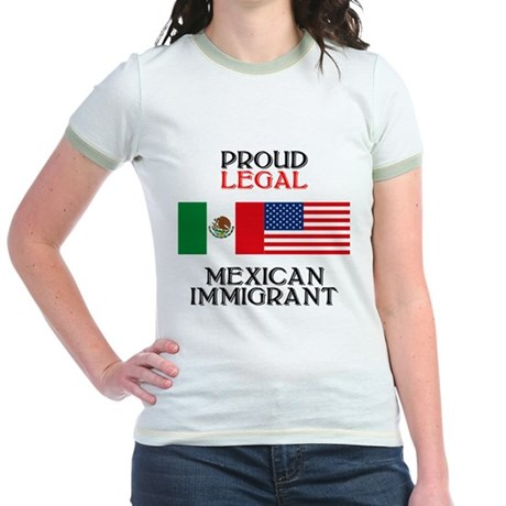 Mexican Immigration Jr. Ringer T-Shirt