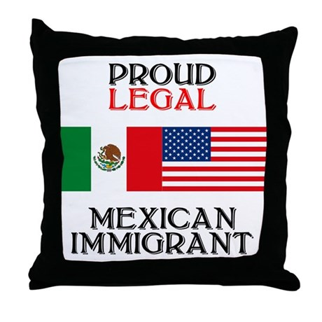 Mexican Immigration Throw Pillow