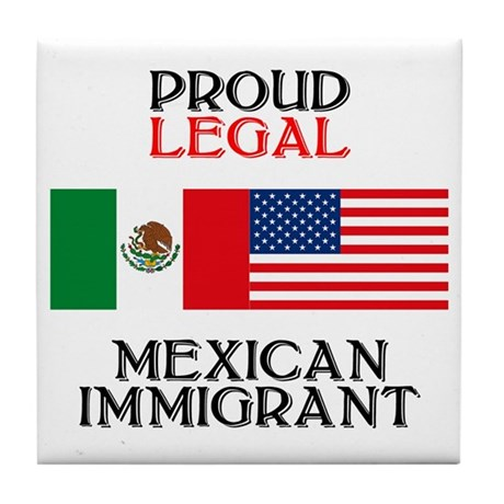 Mexican Immigration Tile Coaster