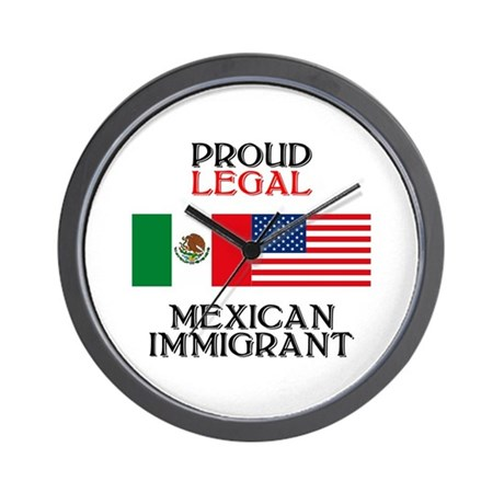 Mexican Immigration Wall Clock