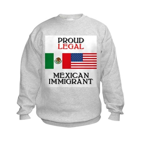 Mexican Immigration Kids Sweatshirt