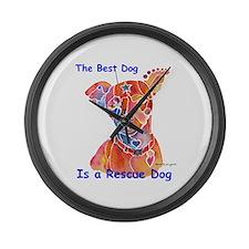 Adopt a Shelter Dog Large Wall Clock