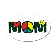 Peace Mom 38.5 x 24.5 Oval Wall Peel