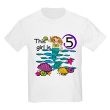 Mermaid 5th Birthday T-Shirt