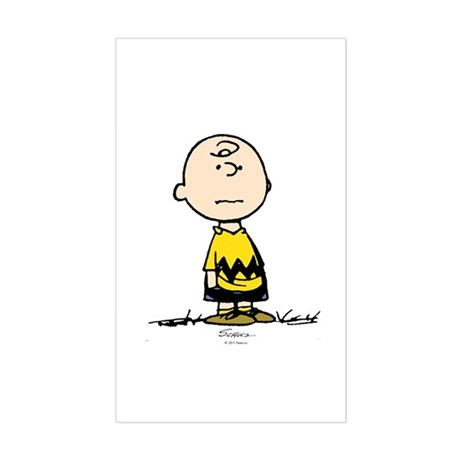 Charlie Brown Sticker (Rectangle)