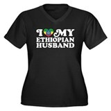 Ethiopian Husband Women's Plus Size V-Neck Dark T-