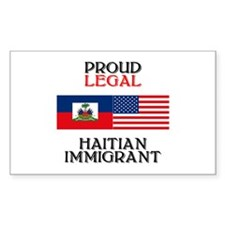 Haitian Immigrant Rectangle Decal