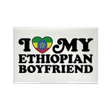 I Love My Ethiopian Boyfriend Rectangle Magnet