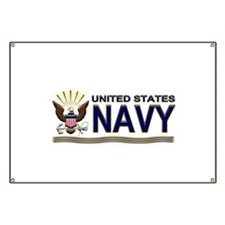 US Navy Eagle & Anchor Banner