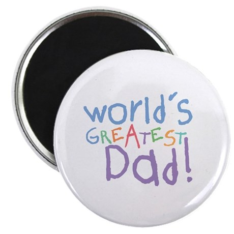"World's Greatest Dad 2.25"" Magnet (100 pack)"