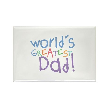 World's Greatest Dad Rectangle Magnet (100 pack)