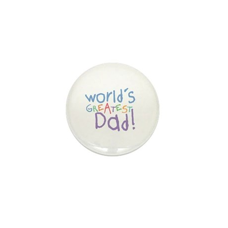 World's Greatest Dad Mini Button