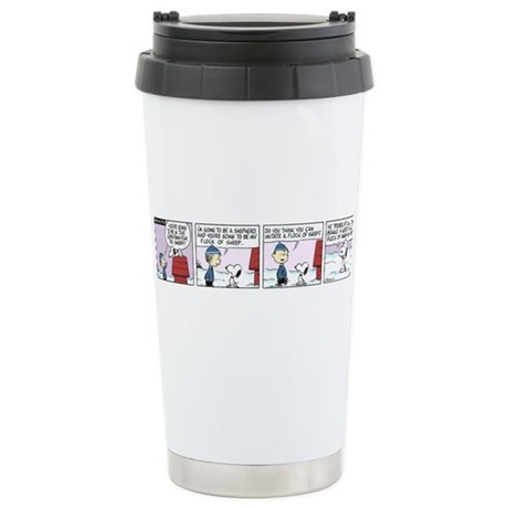 Flock of Beagles Ceramic Travel Mug