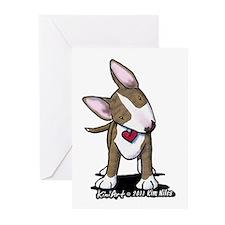 Brindle Bull Terrier Greeting Cards (Pk of 10)