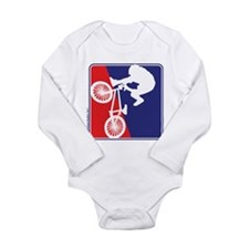 BMX Rider in Red White and BLUE Long Sleeve Infant
