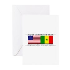 USA - Senegal Greeting Cards (Pk of 10)