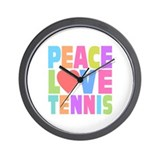 Peace Love Tennis Wall Clock