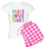 Peace Love Tennis pajamas
