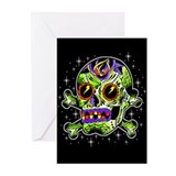Zombie Sugar Skull Greeting Cards (Pk of 10)