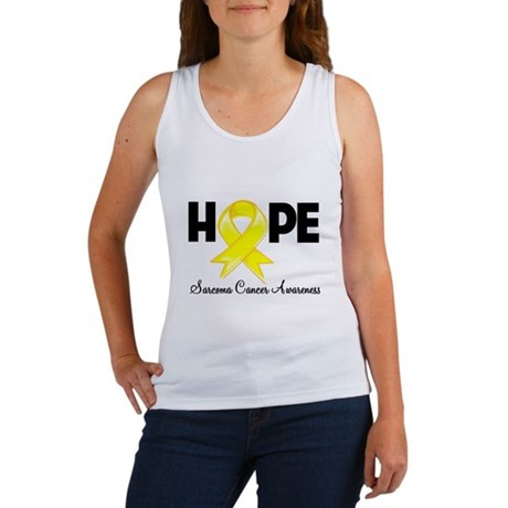 Hope Sarcoma Ribbon Women's Tank Top