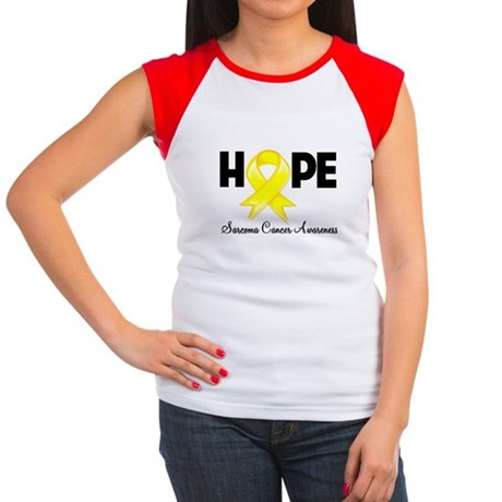 Hope Sarcoma Ribbon Women's Cap Sleeve T-Shirt