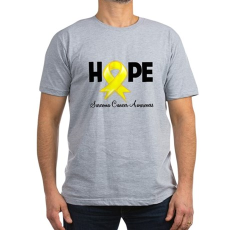 Hope Sarcoma Ribbon Men's Fitted T-Shirt (dark)