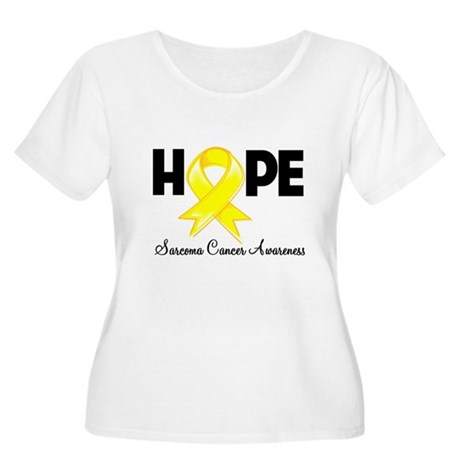 Hope Sarcoma Ribbon Women's Plus Size Scoop Neck T
