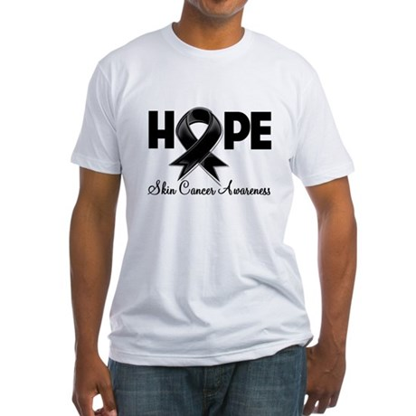 Hope Skin Cancer Fitted T-Shirt