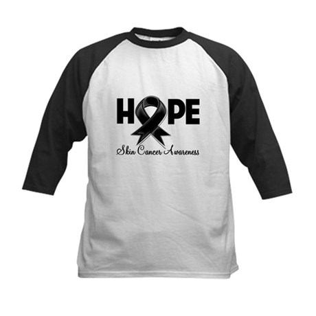 Hope Skin Cancer Kids Baseball Jersey