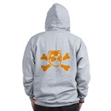 Logo &amp;amp; Skull Duo (Orange) - Zip Hoody