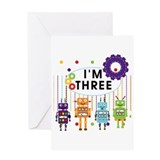 Robot 3rd Birthday Greeting Card