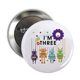 Robot 3rd Birthday 2.25&quot; Button