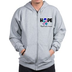 Hope Thyroid Cancer Zip Hoodie