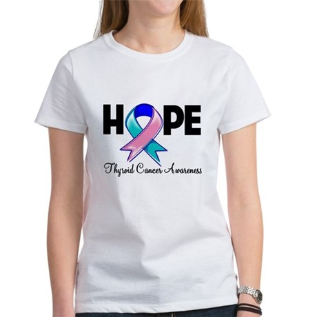 Hope Thyroid Cancer Women's T-Shirt