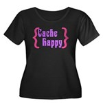Cache Happy Women's Plus Size Scoop Neck Dark T-Sh