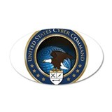 United States Cyber Command 22x14 Oval Wall Peel