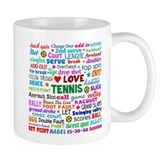 Tennis Terms Small Mugs