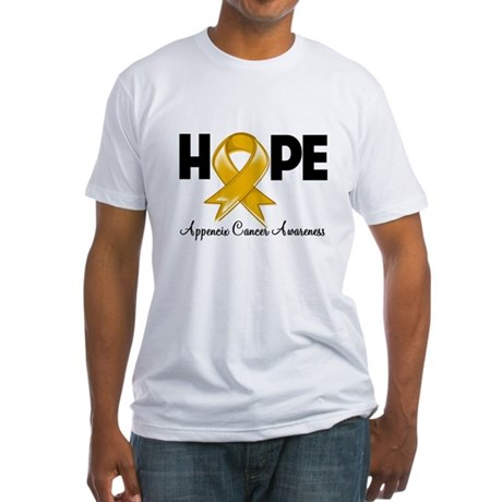 Hope Appendix Cancer Fitted T-Shirt