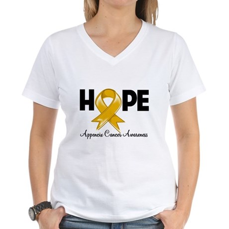 Hope Appendix Cancer Women's V-Neck T-Shirt