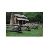 Cades Cove Log Cabin Rectangle Magnet