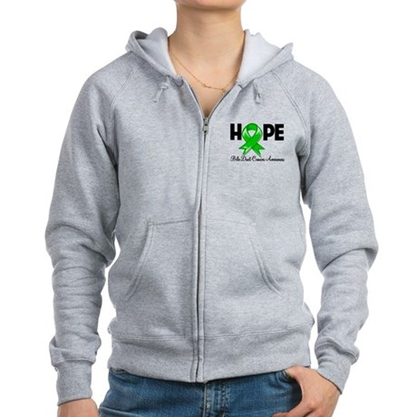 Hope Bile Duct Cancer Women's Zip Hoodie