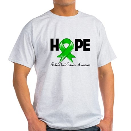 Hope Bile Duct Cancer Light T-Shirt