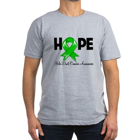 Hope Bile Duct Cancer Men's Fitted T-Shirt (dark)