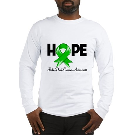 Hope Bile Duct Cancer Long Sleeve T-Shirt