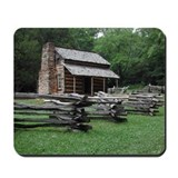 Cades Cove Log Cabin Mousepad