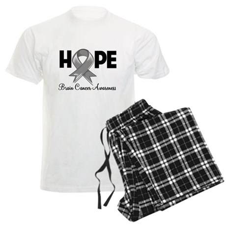 Hope Brain Cancer Men's Light Pajamas