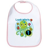 Octopus 1st Birthday Bib