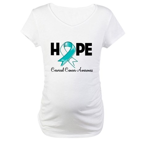 Hope Cervical Cancer Maternity T-Shirt